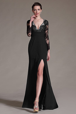 eDressit Black Sexy V-neck Mother of the Bride Dress (26147000)