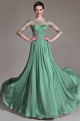 eDressit 2014 Nouveauté Haut Transparent Broderie Vert Robe Mère de Mariée (26147304)