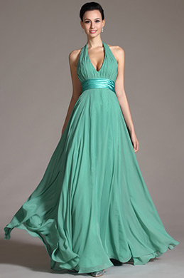 Gorgeous Deep Halter Sexy V cut Evening Gown(C00091804)