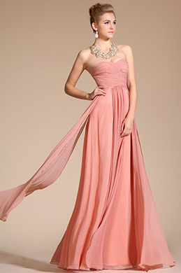Strapless Pleated Evening Dress/Bridesmaid Dress (C00113946)
