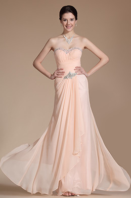 Chic Beadings Sweetheart Neckline Evening Gown(C00142510)