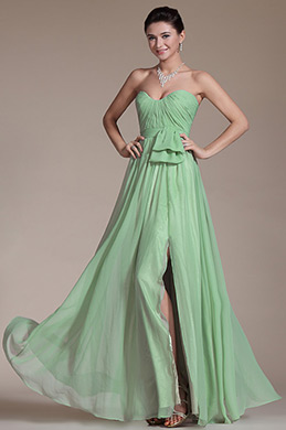Strapless Sector Decoration Bridesmaid Dress Evening Dress (C00146604)