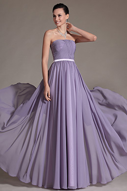 Simple Strapless Evening Dress Bridesmaid Dress (C07140306)