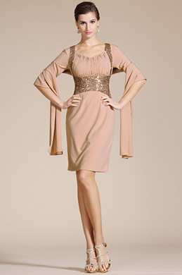 Knee Length Mother of the Bride Dress (C35140646)