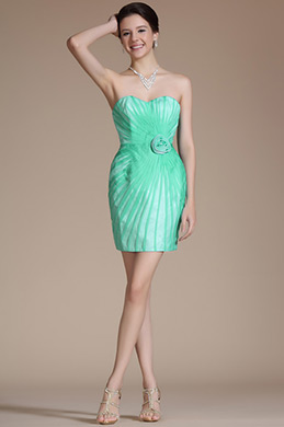 Turqoise Sweatheart Cocktail Dress/Party Dress/Bridesmaid Dress (C35141004)