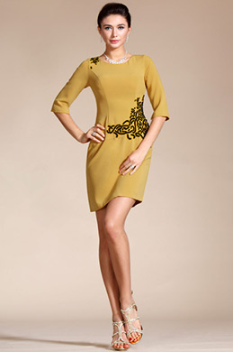 Round Neck Mother of the Bride Dress/Day Dress (C35141403)