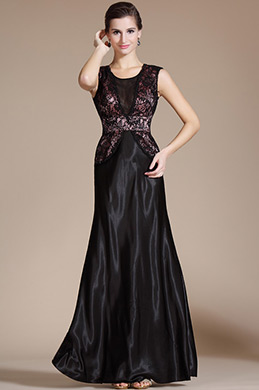 Black Lace A-line Evening Dress/Mother of the Bride Dress (C36141400)