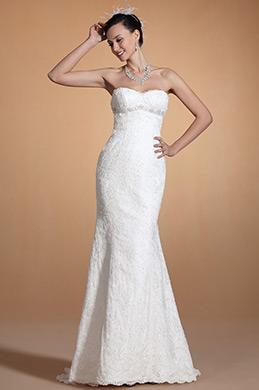 Stylish Sweetheart Beaded Mermaid Wedding Gown (C37143207)