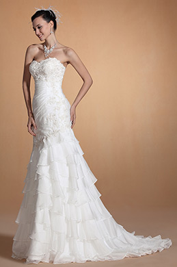 Carlyna 2014 New Elegant Sweetheart Neck Lace Bust Wedding Gown (C37145207)