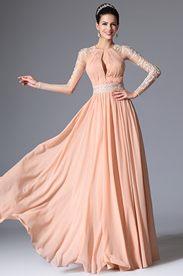 eDressit Pink Grecian Neckline Lace Evening Dress Prom Formal Gown (00147801)