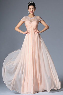 eDressit Pink Short Sleeves Evening Dress (00147901)