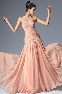 eDressit Elegant Lace Strapless Evening Dress Prom Gown (00148301)