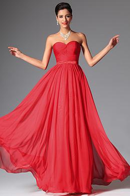 eDressit 2014 Nouveauté Rouge Simple Bustier Décolleté Robe de Soirée/ Longue (00148602)