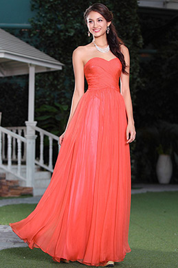 Stunning Red Crisscross Sweetheart Neck Evening Dress Bridesmaid Dress (02143702)