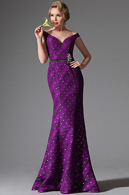 eDressit Off Shoulder Dark Magenta Evening Dress Prom Ball Gown (02146012)