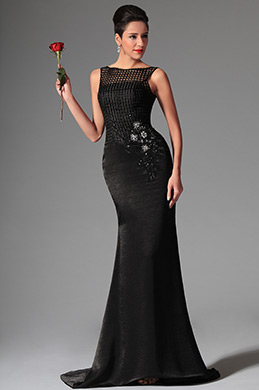 eDressit Black Sleeveless Overlace Long Formal Evening Dress (02146400)