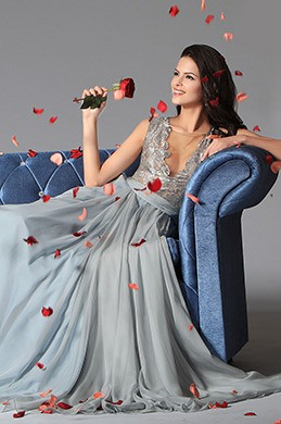 eDressit Bluish Grey Sexy Deep V-neck Embroidered Lace Formal Gown (02146732)