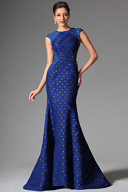 eDressit Navy Blue Jewel Neckline Evening Prom Ball Gown (02147205)
