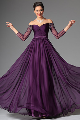 eDressit Purple Stylish Off Shoulder Evening Dress Prom Dress (02147406)