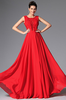 New Red Stylish Design Sleeveless Evening Prom Gown (02149202)