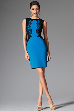 eDressit Blue Sleeveless Day Dress Wear to Work (03143405)