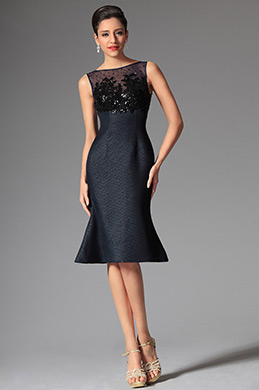 eDressit Midnight Blue Bateau Neckline Sleeveless Day Dress Wear to Work (03143905)