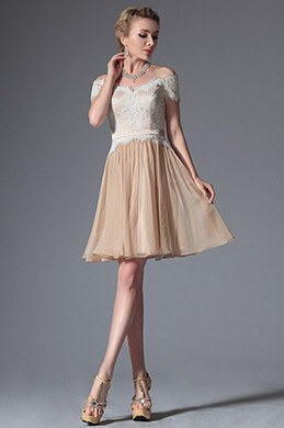 eDressit Champagne Off Shoulder Cocktail Dress Party Dress (04144107)