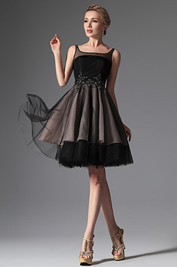 eDressit Black Straps Cocktail Dress Party Dress (04144200)