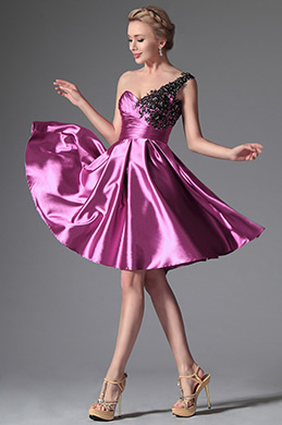 eDressit Hot Pink One Shoulder Cocktail Dress Party Dress (04144512)