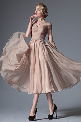 eDressit 2014 New Rosy Brown Off Shoulder Tea Length Dress (04145046)