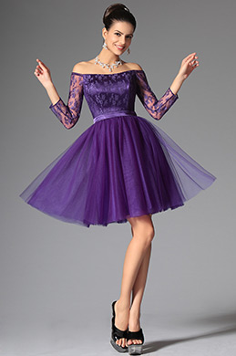 eDressit Purple Lovely Off Shoulder Cocktail Dress Party Dress (04145606)
