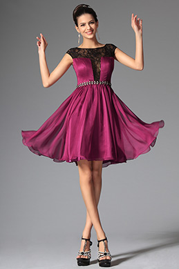 eDressit Dark Magenta Cap Sleeves Cocktails Dress Party Dress (04145912)