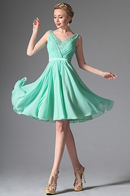 eDressit Light Green V-cut Cocktail Dress Party Dress (04146604)