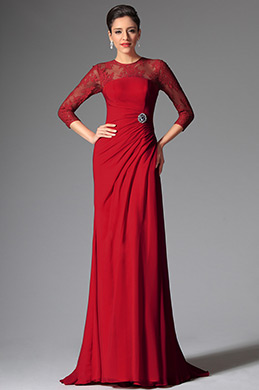 eDressit Red Round Neckline Mother of the Bride Dress (26148102)