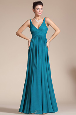 Elegant V-cut Evening Dress Prom Ball Gown (C00120805)