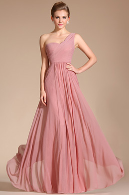 Amazing Stylish One Strap Evening Dress Bridesmaid Dress (C00125101)