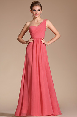 Amazing Stylish Single Shoulder Evening Dress Bridesmaid Dress(C00125157)