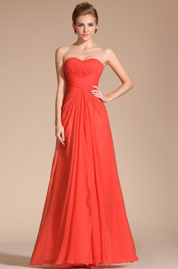 Fabulous Eye-catching Strapless Evening Dress Bridesmaid Dress (C00134510)