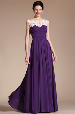 eDressit  A-line Lace Appliques Evening Dress Prom Gown (C00140106)
