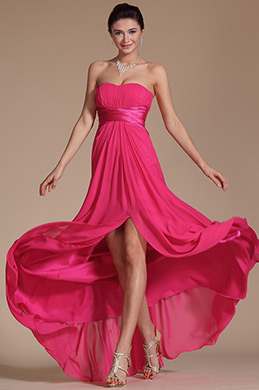 Simple Strapless Evening Dress Bridesmaid Dress (C00143412)