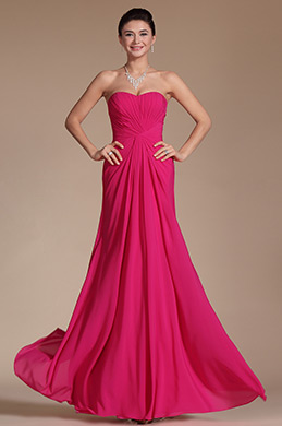 Hot Pink Sweetheart Evening Dress Prom Gown (C00145012)