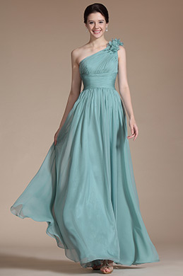 Elegant One Shoulder Evening Formal Dress (C00145604)