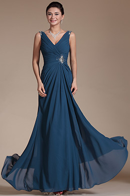 Sexy V-cut Evening Prom Gown (C00146105)