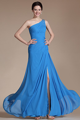 Graceful One shoulder Bridesmaid Dress Evening Dress (C00146205)