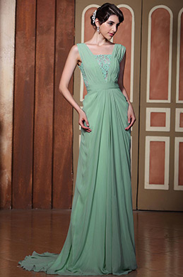 Elegant Light Green Sexy Open Back Evening Dress Formal Dress (C02131704)