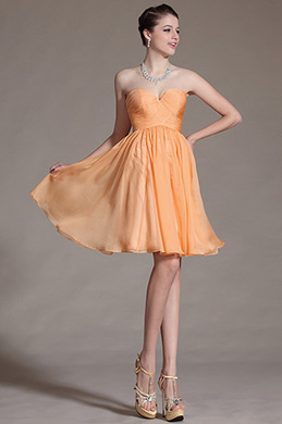 Orange Simple Sweetheart Bridesmaid Dress (C07141010)