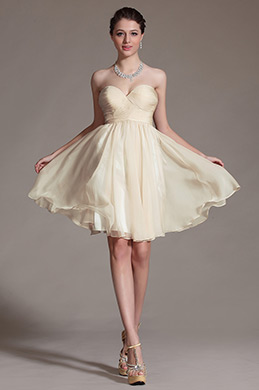 Simple Sweetheart Cocktail Dress/ Bridesmaid Dress (C07141014)