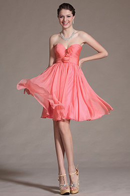 Lovely Sweetheart Cocktail Dress Bridesmaid Dress (C07141457)