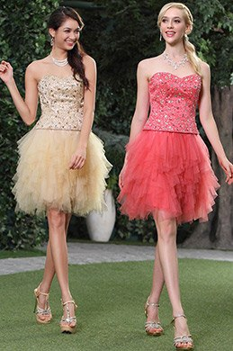 Strapless Sweetheart Layered Cocktail Dress Homecoming Dress (C35143414)