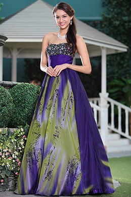 Noble Full Beaded Neck A-line Printed Fluffy Graduation Dress Ball Gown (C36143168)